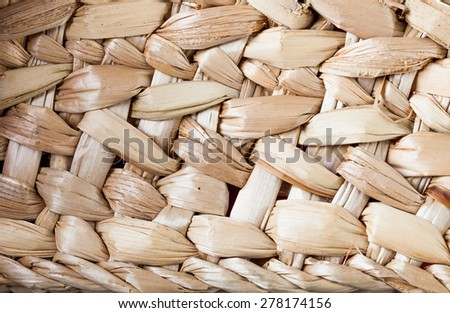 Old wicker of the straw texture background - stock photo