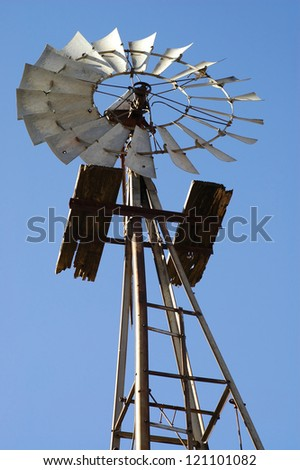 Old Windmill Against Blue Sky