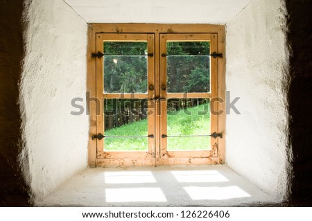 old window at a villa
