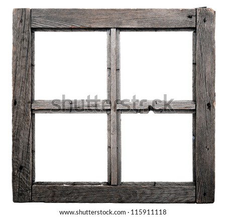 Old Window Frame Isolated On White Stock Photo (Royalty Free ...