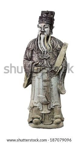 Old wise man statue - stock photo