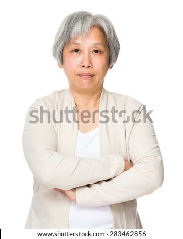 Old woman - stock photo