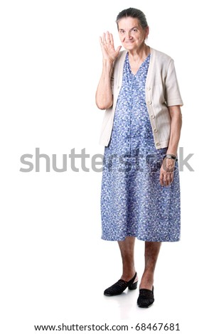 Old Woman. - stock photo