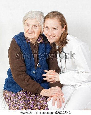 Old woman and the sweet young doctor