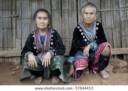 old women in Asia, ethnic group Meo