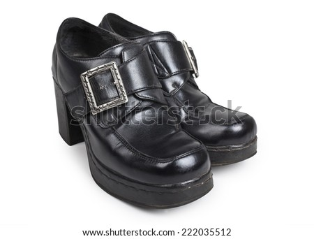 Old womens ankle boots - stock photo