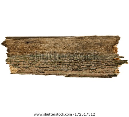 Old wood board plank surface texture  isolated on white - stock photo