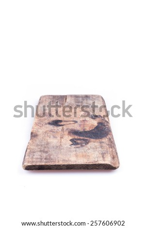 old wood board weathered isolated on white background