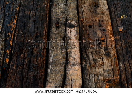 old wood chock texture background