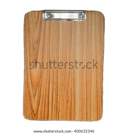 old wood clipboard for text and background - stock photo