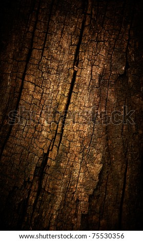 Old wood cracked texture - stock photo