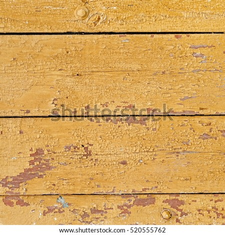 Old Wood Fence Structure Paint Yellow Stock Photo 520555762 ...