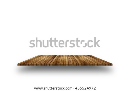 Old Wood floor texture isolated on white background - stock photo