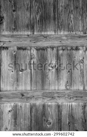 Old Wood Plank of Texture Background with black and white - stock photo