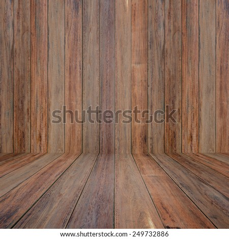 Old wood room. - stock photo