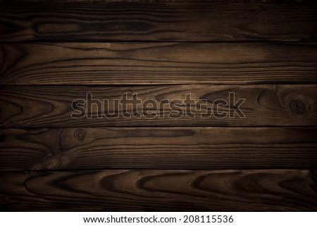 old wood texture, dark background - stock photo