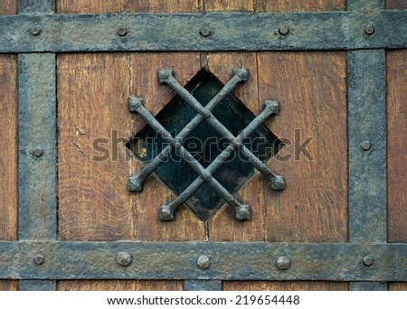 Old Wood texture; Medieval doors & Old Wood Texture Medieval Doors Stock Photo (Safe to Use) 219654448 ...