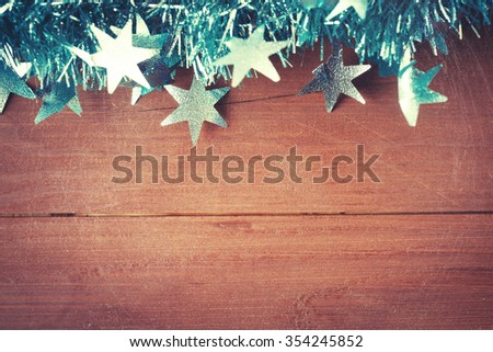Old wood texture with christmas decoration