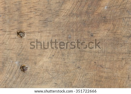 Old wood texture with hole of nail