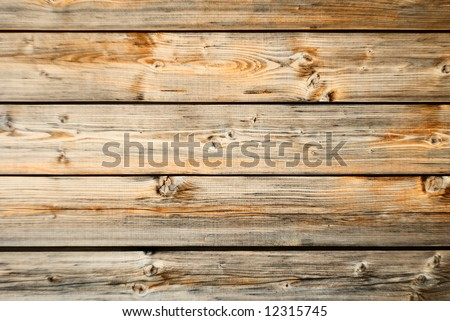 Old wood wall texture with horizontal orientation - stock photo
