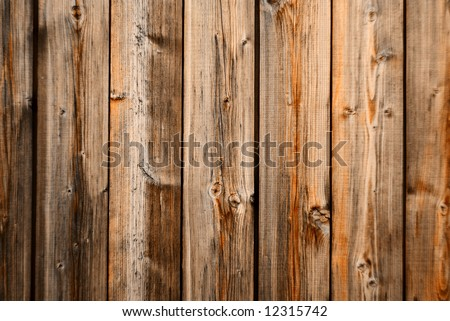 Old wood wall texture with vertical orientation - stock photo