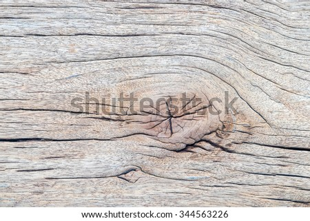 Old wood with gnarl texture Background.