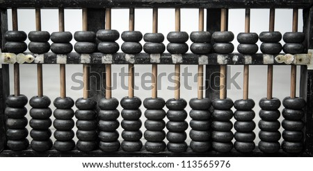 old wooden abacus - stock photo