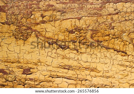 old wooden background with cracked retro texture