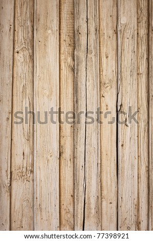 old wooden background with vertical boards - stock photo