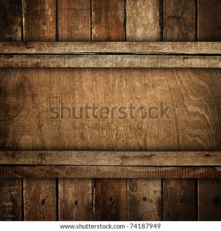 old wooden board - stock photo