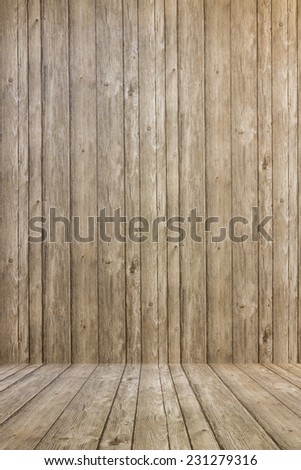 old wooden boards background - stock photo