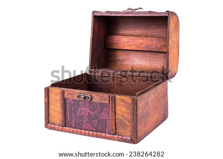Old Wooden Box Isolated