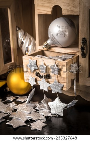 Old Wooden Box Various Christmas Decorations Stock Photo 40 Gorgeous Decorating With Old Wooden Boxes