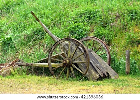 Old wooden buggy - stock photo