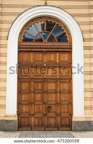 Open Church Doors old wooden church door big double stock photo 475200598 - shutterstock