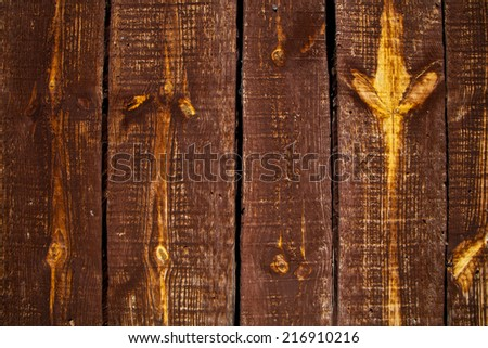 Old wooden door detail and background texture