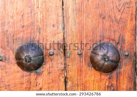 Old wooden door of an old house