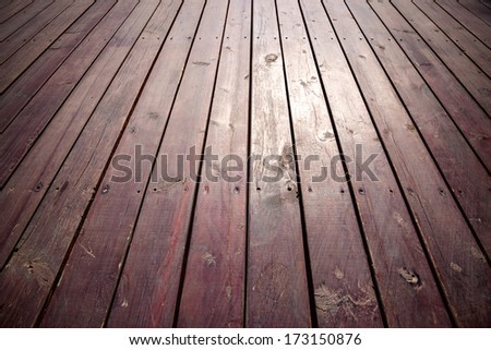 Old wooden Floor Boards  - stock photo