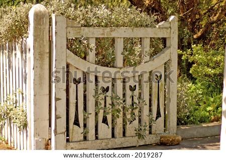 Old Wooden Garden Gate