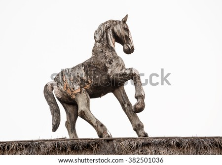 old wooden horse.