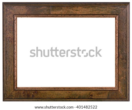 Old Wooden Patina Picture Frame - stock photo