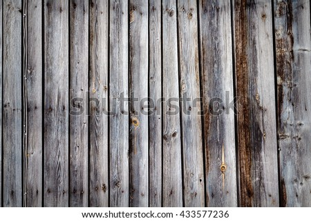 Old wooden plank wall texture background. Natural dark rustic wooden texture - stock photo