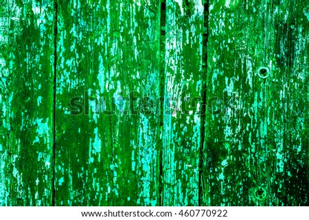 Old wooden planks with cracked color paint texture background. Wooden texture as abstract background.