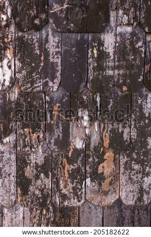 Old wooden roof - stock photo