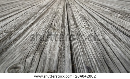 Old wooden roof, dilapidated by time - stock photo
