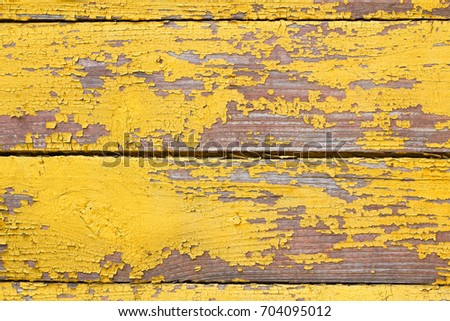 Old Wooden Shabby Yellow Background Texture Stock Photo (Royalty ...