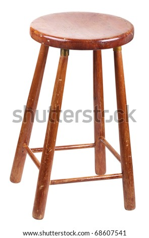 Old wooden stool isolated on a white background  sc 1 st  Shutterstock & Old Wooden Stool Stock Images Royalty-Free Images u0026 Vectors ... islam-shia.org