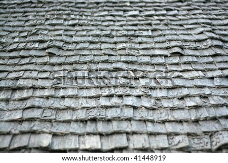 Old wooden tile - stock photo
