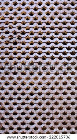 Old wooden traditional Nepalese window detail. Nepal - stock photo