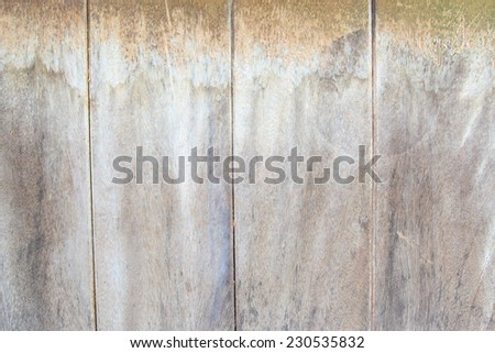 Old wooden wall background slabs decay weathered be dirty. - stock photo